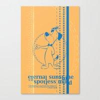 eternal sunshine of the spotless mind Canvas Prints featuring Eternal Sunshine of the Spotless Mind by dann matthews
