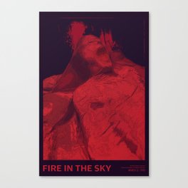 Fire in the Sky - 01 Red Canvas Print