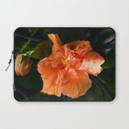 Apricot Hibiscus Laptop Sleeve