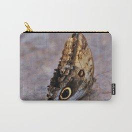 Giant Owl Butterfly asleep on the stone Carry-All Pouch