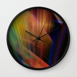 Multicolored abstract no. 73 Wall Clock