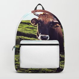 Cow in the Alps, Mountains Backpack