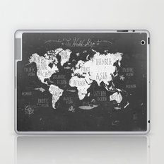 The World Map B/W Laptop & iPad Skin