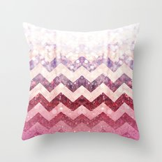Pink Ruby Case By Zabu Stewart Throw Pillow
