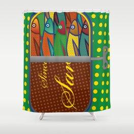 Pop art: Sardines Shower Curtain