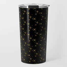 Art Deco: Glitter Gold Stars of Tangiers Pattern Travel Mug