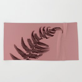 Fern on marsala Beach Towel
