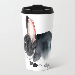 Bunny Nursery Art- children room-watercolor bunny art Travel Mug