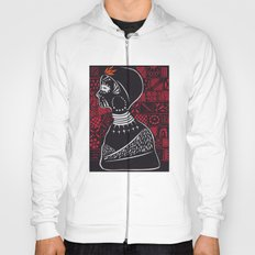 Tribal woman with traditional patterns Hoody