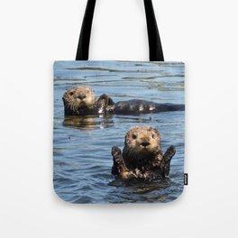 sea otter hello Tote Bag