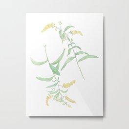 Goldenrod Watercolor Metal Print