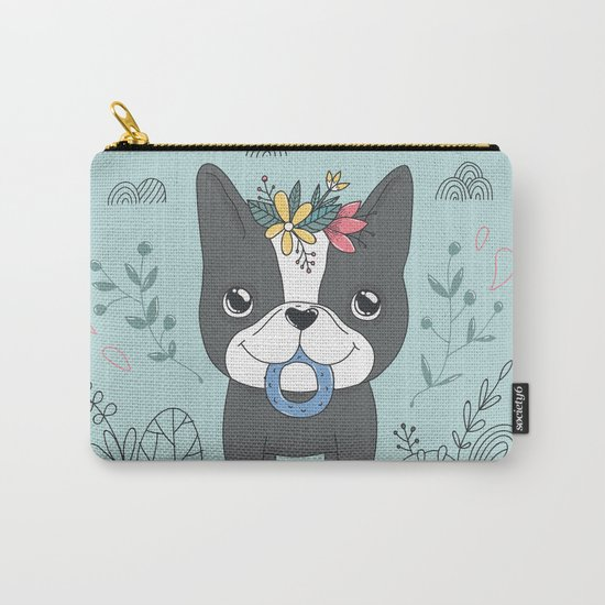 French bulldog. Nika Carry-All Pouch