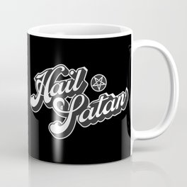 Hail Satan - Grayscale pop vintage letters Coffee Mug