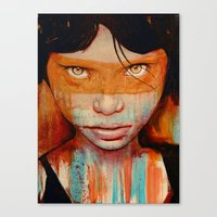 grunge Canvas Prints featuring Pele by Michael Shapcott