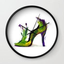 Feathered Heel Wall Clock
