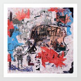 Basquiat Style Art Print