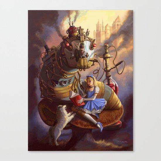 Sandra's Steampunk Alice in Wonderland Canvas Print