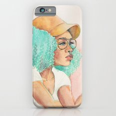 Minty Curls Don't Care iPhone 6s Slim Case