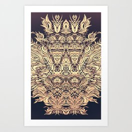 Soft Lines(B&O) Art Print