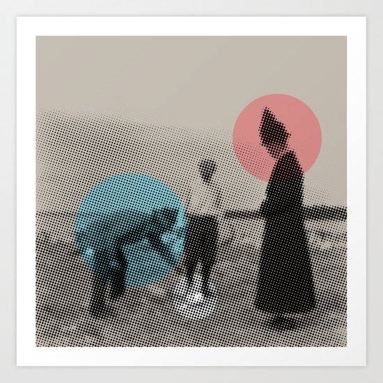 Blue wins Red stays in White is out Art Print