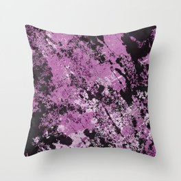 Abstract Texture Deux - Purple, White and Black Throw Pillow