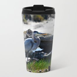 posing heron Travel Mug