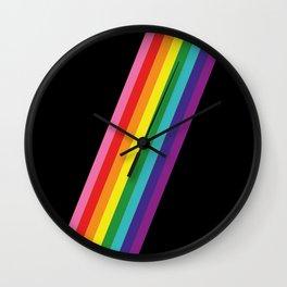 Rainbow Slash Wall Clock