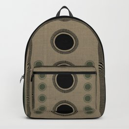 """Tribal Viridian Stars"" Backpack"
