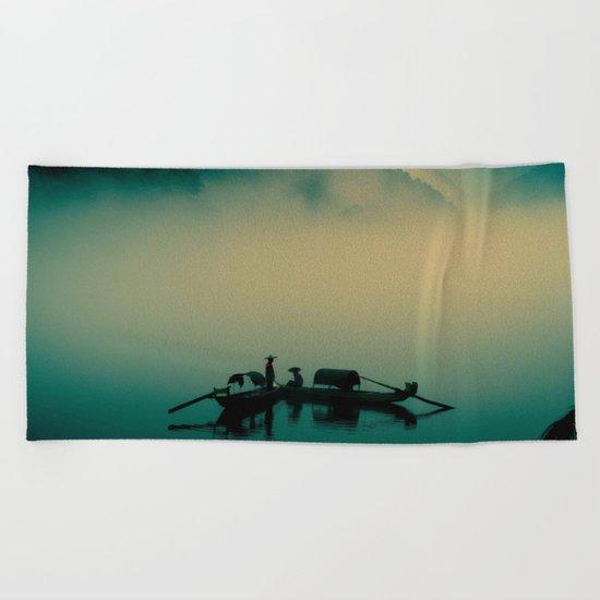 Junk ship Chinese Boat Beach Towel