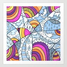 Rain & Rainbows Art Print