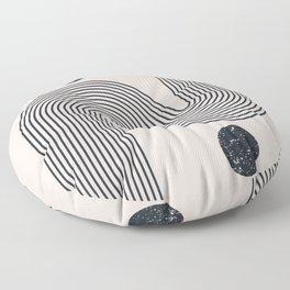 mid century modern rainbow Floor Pillow