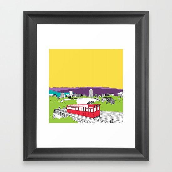 Wellington, New Zealand Framed Art Print