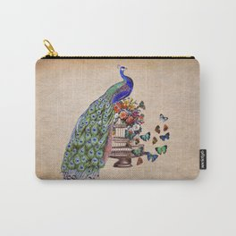 Vintage Peacock Beauty Carry-All Pouch