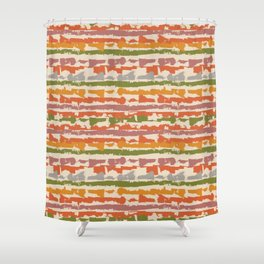 Krazy Strips - Earthtone Shower Curtain