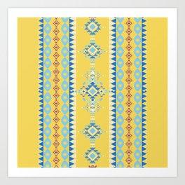 Bright Boho Tribal Pattern Art Print