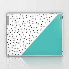 Geometric grey and turquoise design Laptop & iPad Skin
