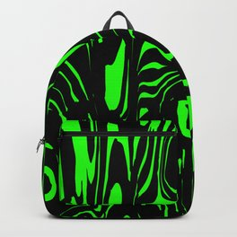A twisted interweaving of green spots from flowing lava and a light chaotic cycle. Backpack
