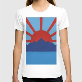 Ocean, Mountains, Rising Sun T-shirt