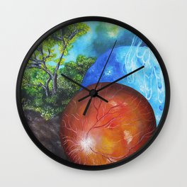 In vertebrate embryonic development, the retina and the optic nerve... Wall Clock