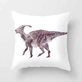 Parasaurolophus dinosaur Throw Pillow