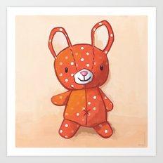 Le lapin qui aimait les champignons Art Print