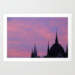 pink parliament Art Print