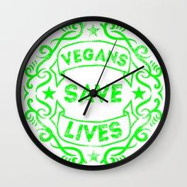 Vegans Save Lives Wall Clock