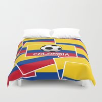 colombia Duvet Covers featuring Colombia Football by mailboxdisco