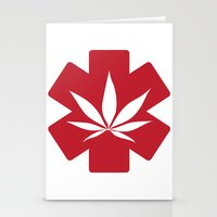 medical Stationery Cards featuring Medical Marijuana by WeedPornDaily