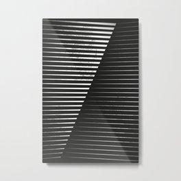 Black vs. White Metal Print