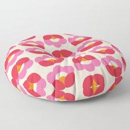 Flowers geometry - retro pattern no2 Floor Pillow