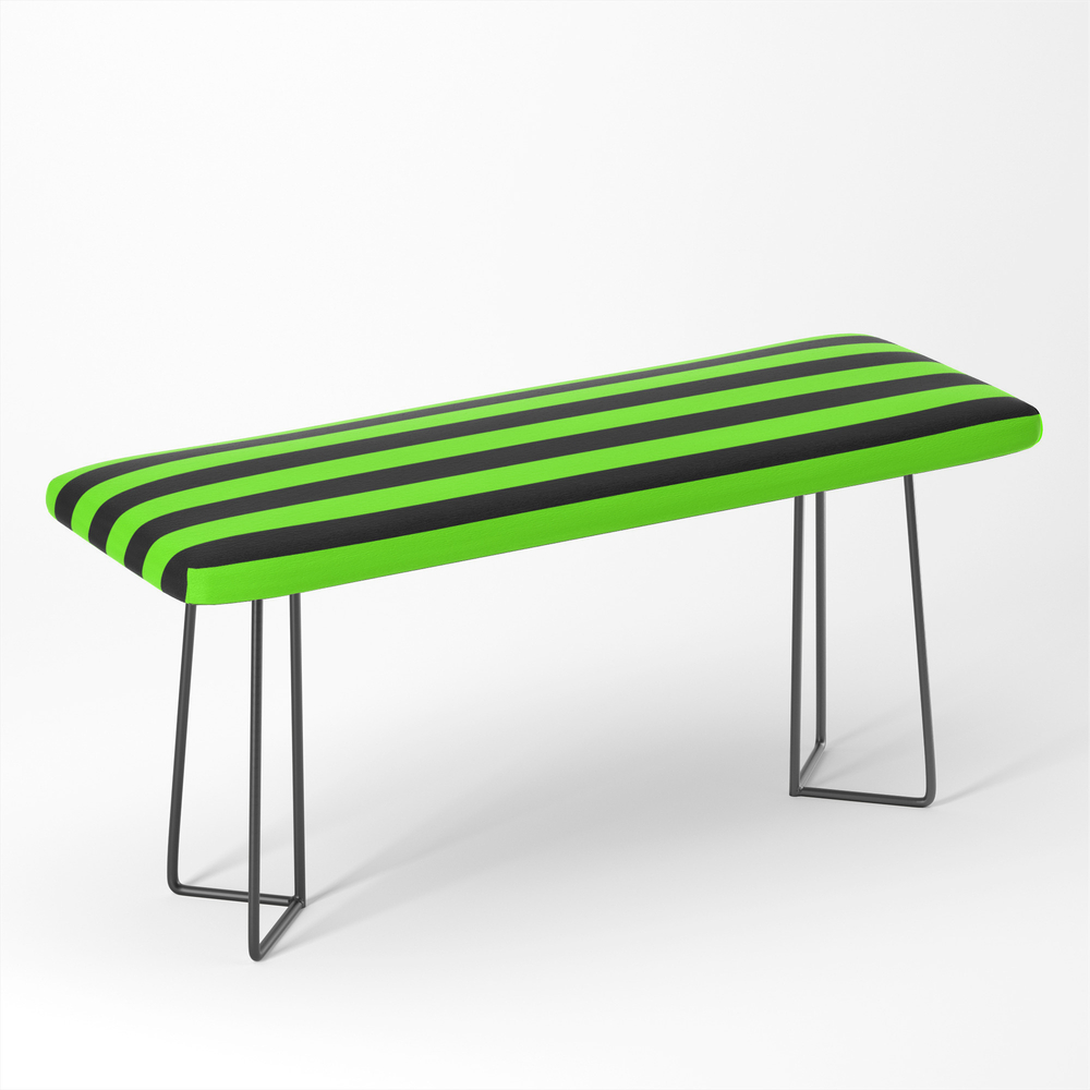 Bright_Green_and_Black_Horizontal_Stripes_Bench_by_fiftycolors