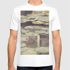 Water lilies MEDIUM White Mens Fitted Tee
