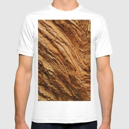 Majestic Red Rock Canyon Textured Wall Close-Up T-shirt